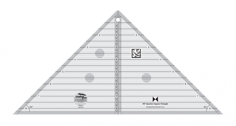 Creative Grids 90 Degree Quarter Square Triangle Ruler