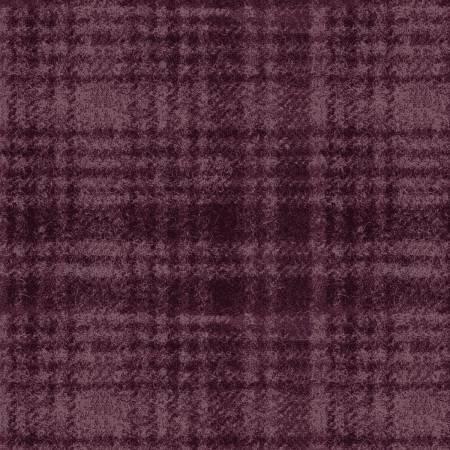 Woolies Windowpane Violet Flannel