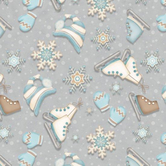 i Still love snow Blue Skate Allover
