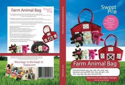 Farm Animal Bag Machine Embroidery Design CD