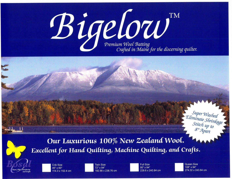 Bigelow 100% Wool Batting 45in x 60in