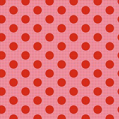 Tilda Basics Medium Dots in Salmon