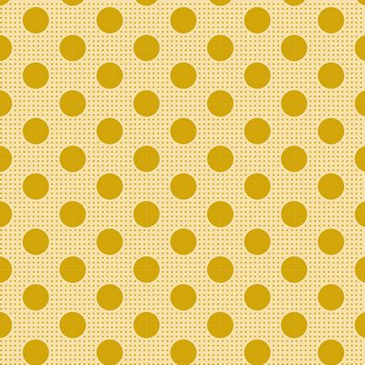 Tilda Basics Medium Dots in Flaxen Yellow