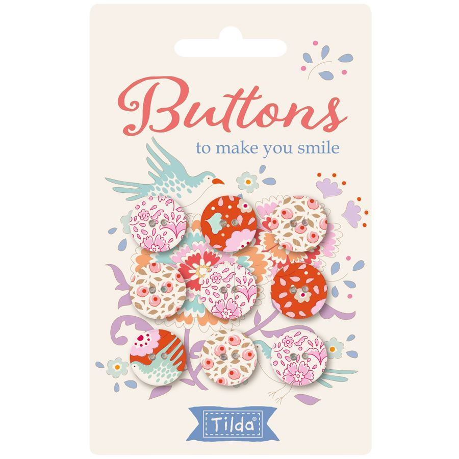 Birdpond Buttons To Make You Smile 15mm