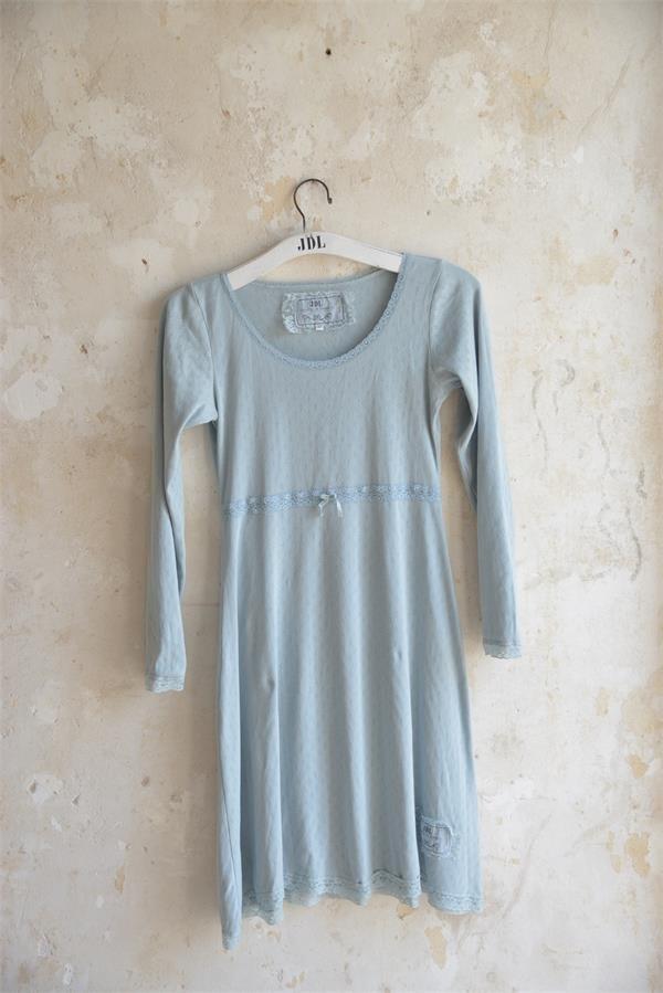 Joyful Moods Dusty Blue Long Sleeve Nightgown