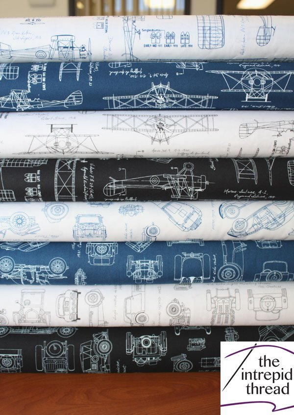 Vintage Blueprints Half Yard Bundle - 784626746053