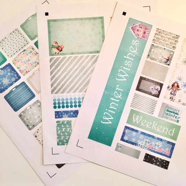 Quilter's Planner Stickers January
