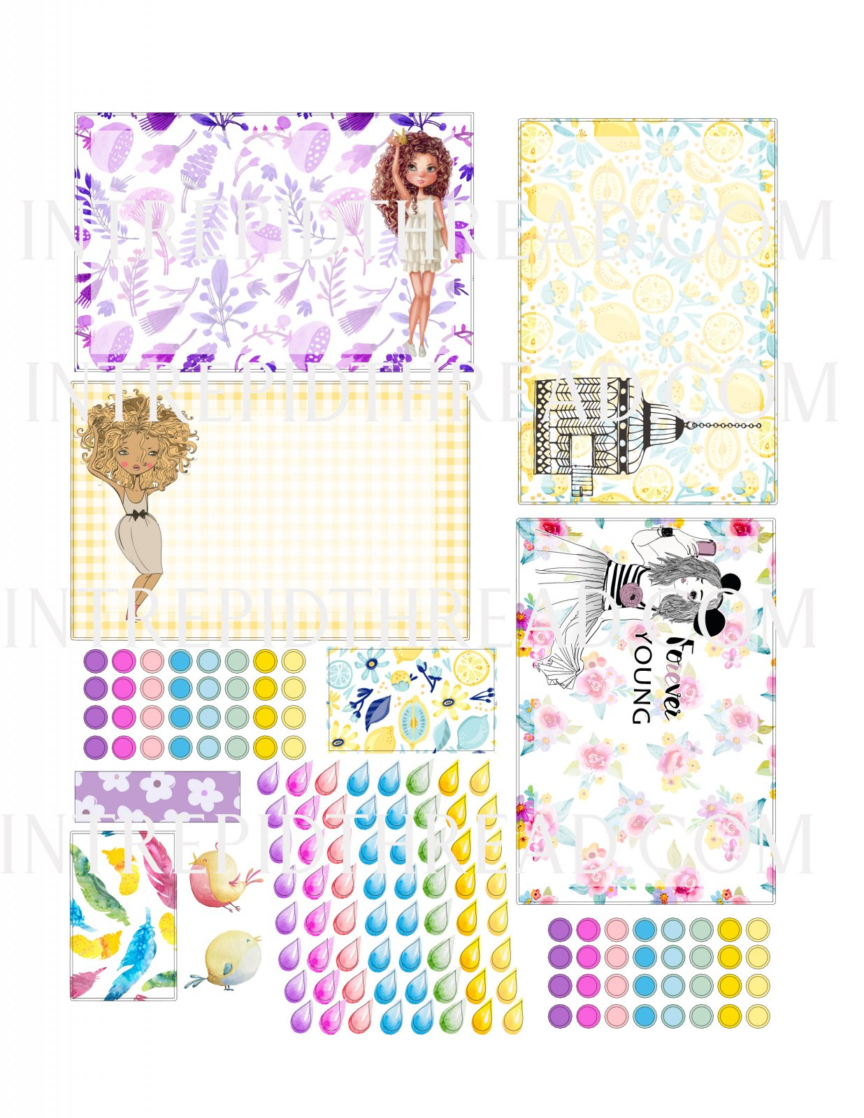 Quilter's Planner Stickers April