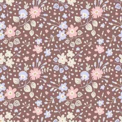 Plum Garden - Flower Confetti in Nutmeg