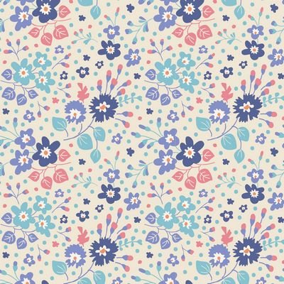 Plum Garden - Flower Confetti in Blue