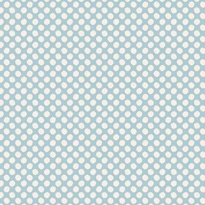 Tilda Basic Classics - Paint Dots in Light Blue