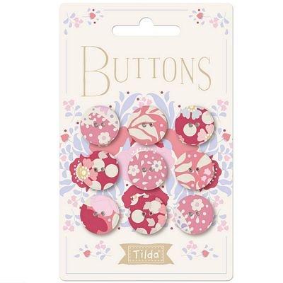 Plum Garden 17MM Buttons