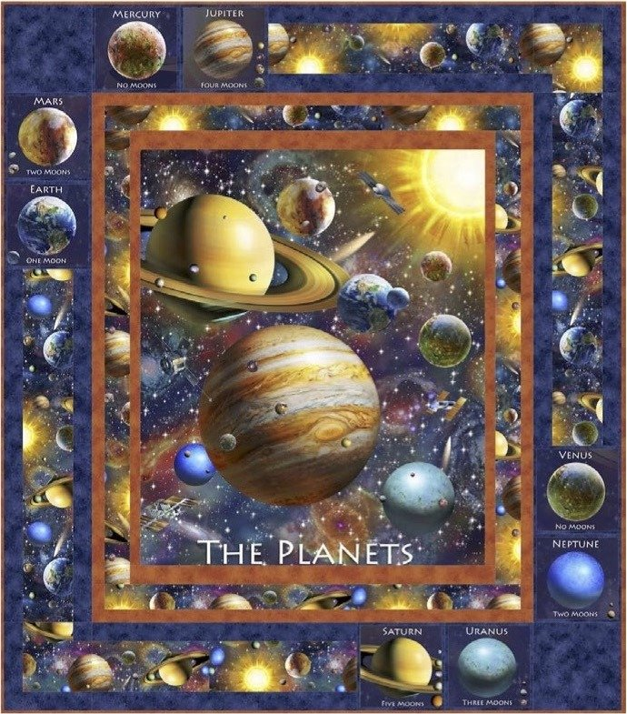 Planetary Paths quilt kit