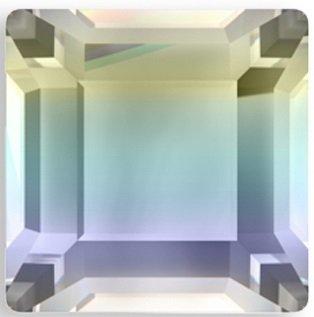 #2400 Crystal AB #001AB Square 3mm Swarovski Flat Back Hotfix Crystal