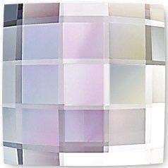 #2493 Crystal AB #001AB Checkerboard Square 8mm Swarovski Flat Back Hotfix Crystal