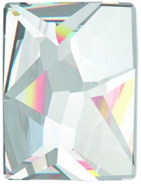 #2520 Crystal #001 Cosmic Rectangle 8x6mm Swarovski Flat Back Hotfix Crystal