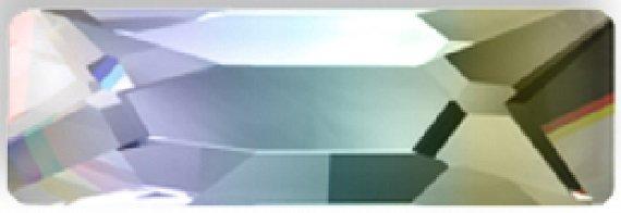 #2555 Crystal AB #001AB Cosmic Baguette 12x4mm Swarovski Flat Back Hotfix Crystal