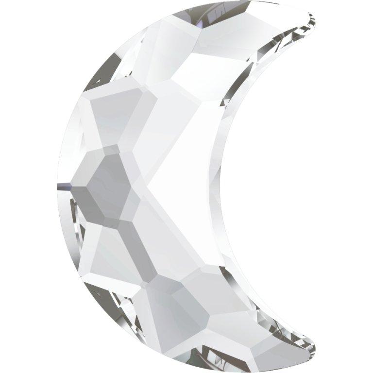 #2813 Crystal #001 Moon 8x5.5mm Swarovski Flat Back Hotfix Crystal