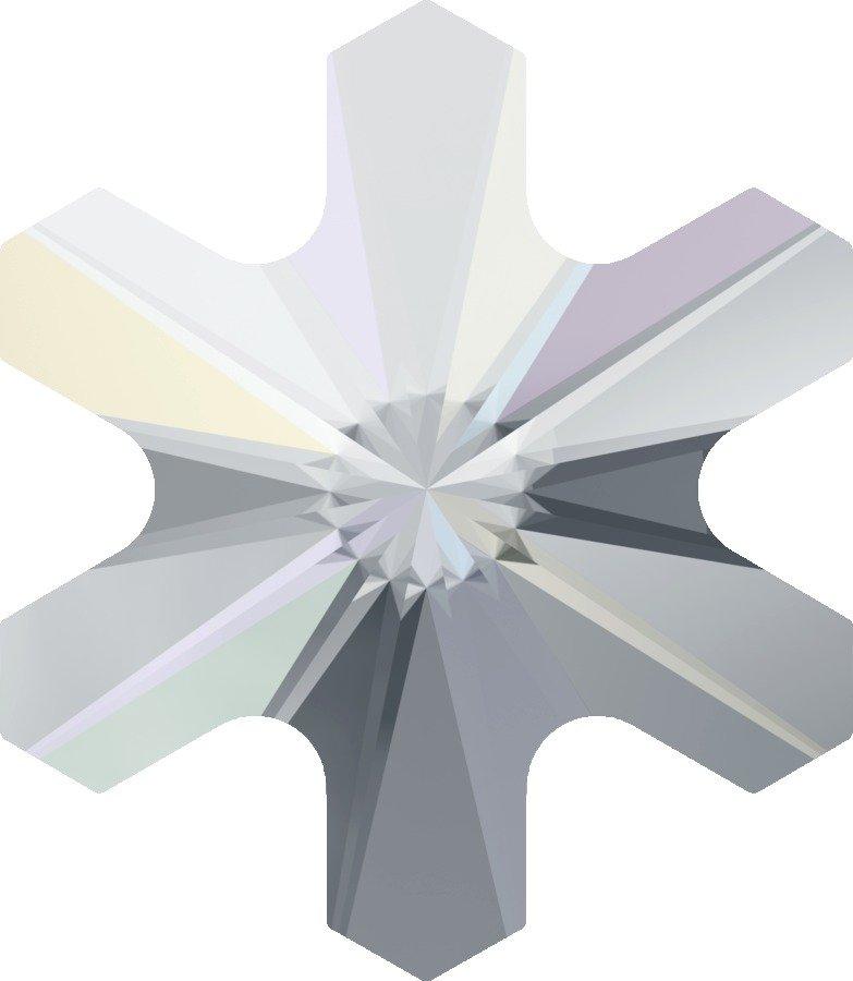 #2826 Crystal AB #001AB Snowflake 5mm Swarovski Flat Back Hotfix Crystal
