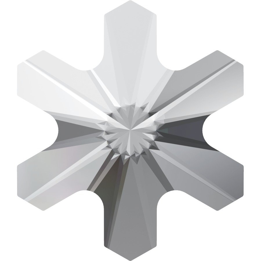 #2826 Crystal #001 Snowflake 5mm Swarovski Flat Back Hotfix Crystal