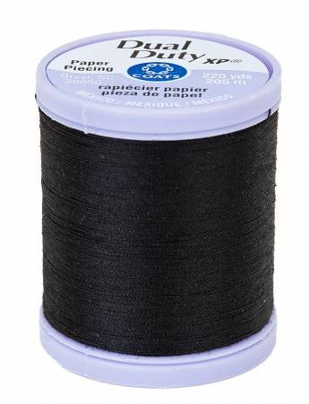 Black Paper Piecing Thread - Dual Duty XP Coats & Clark S942-0900