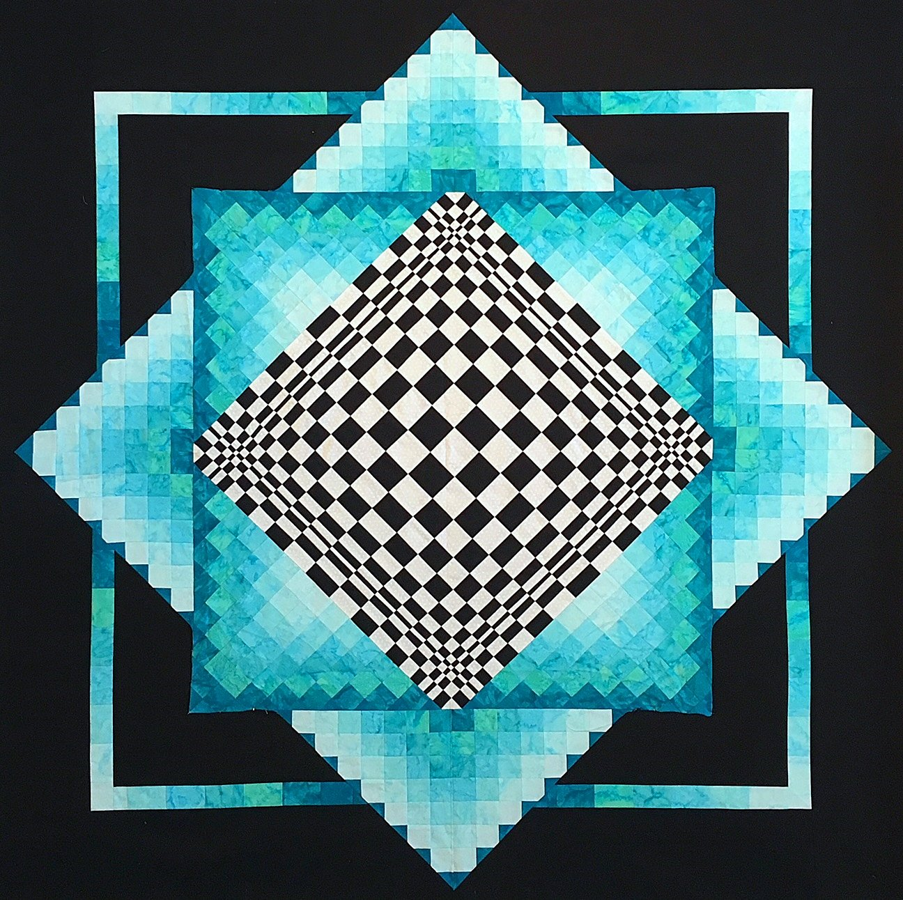 Convex Illusions pattern by KwiltArt Designs