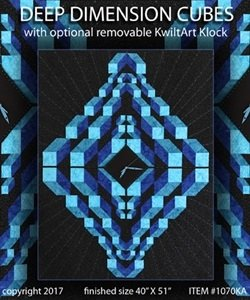 Deep Dimension Cubes pattern by KwiltArt Designs