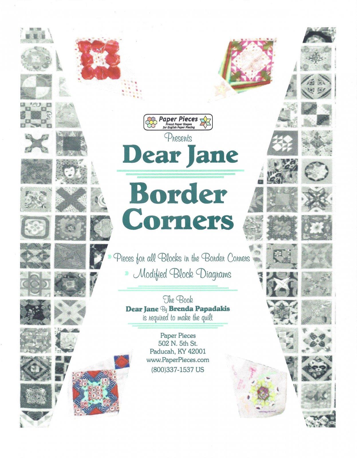 Dear Jane (Border Corners) EPP Paper Pieces Kit