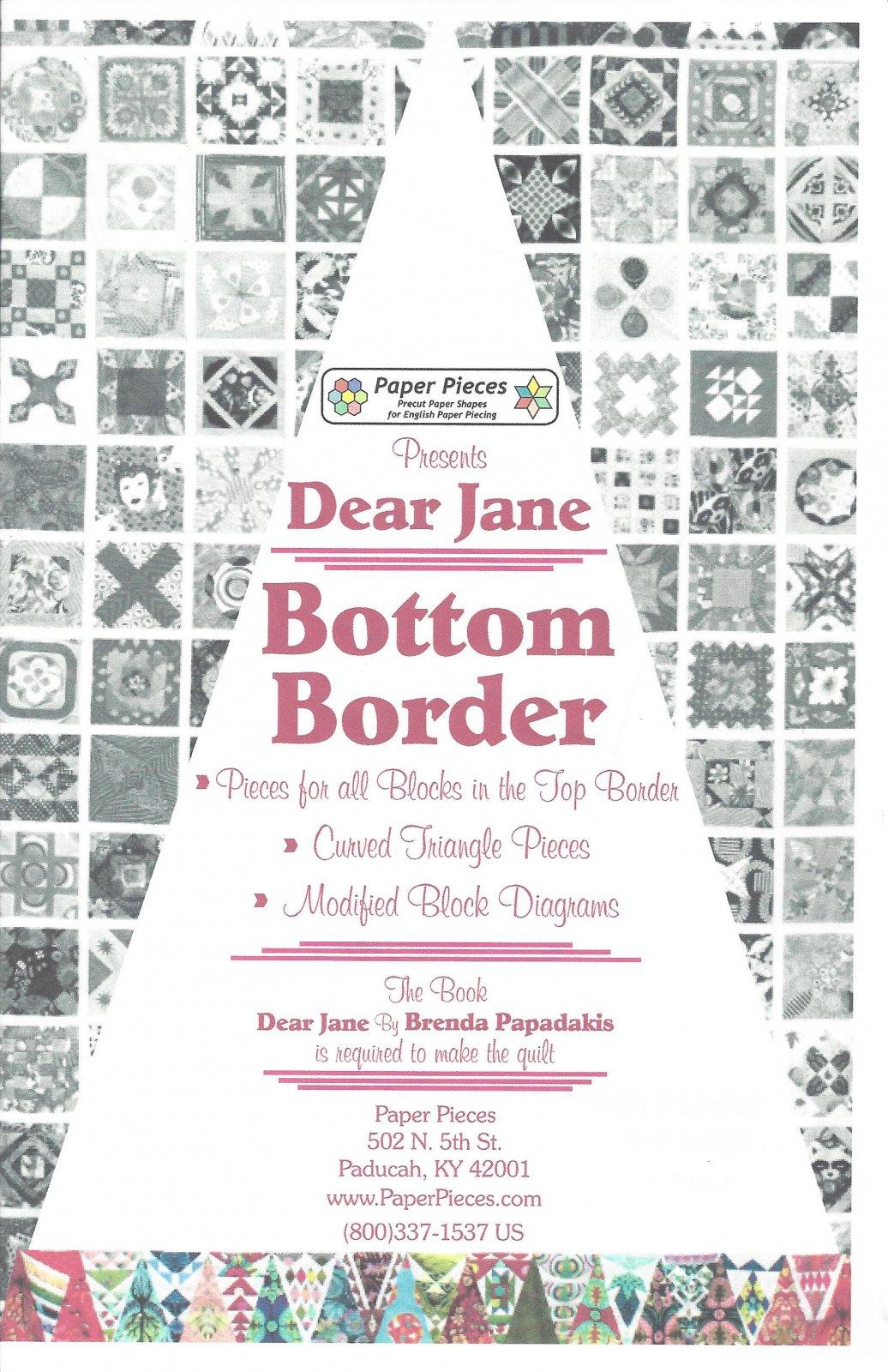 Dear Jane (Bottom Border) EPP Paper Pieces Kit