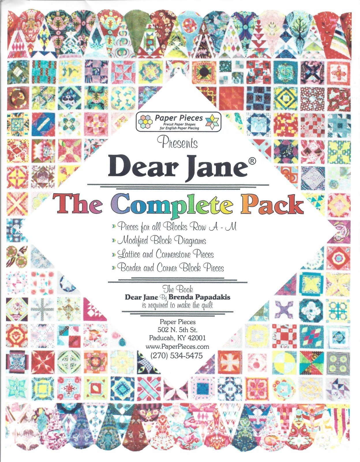 Dear Jane Complete Set of EPP Paper Pieces Kits