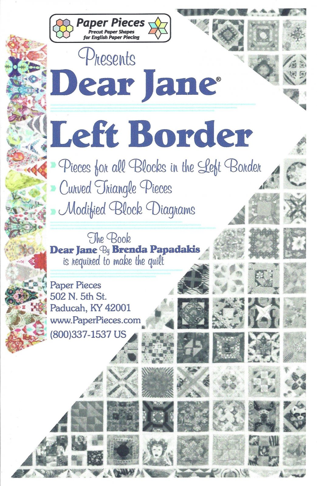 Dear Jane (Left Border) EPP Paper Pieces Kit