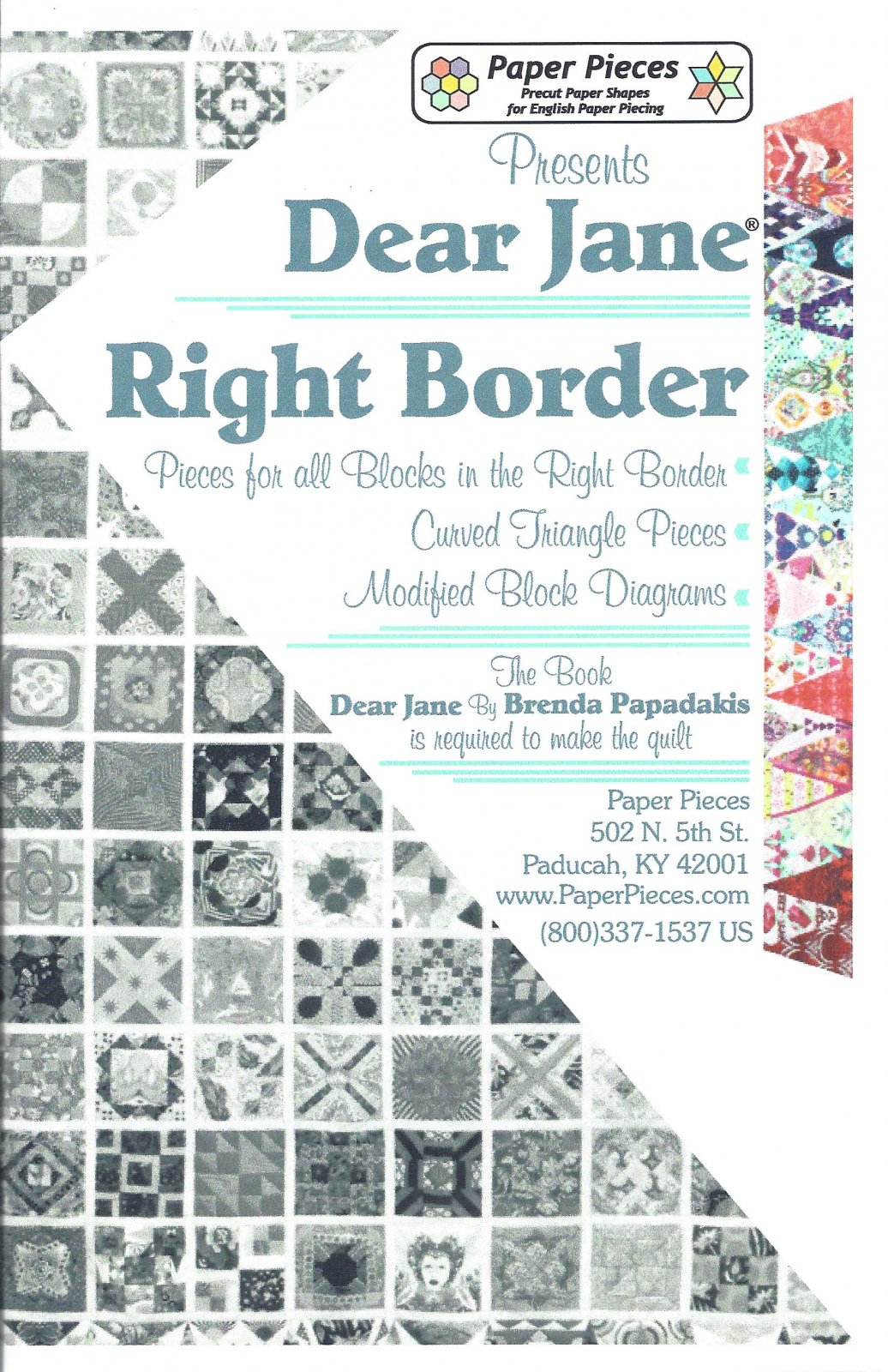 Dear Jane (Right Border) EPP Paper Pieces Kit