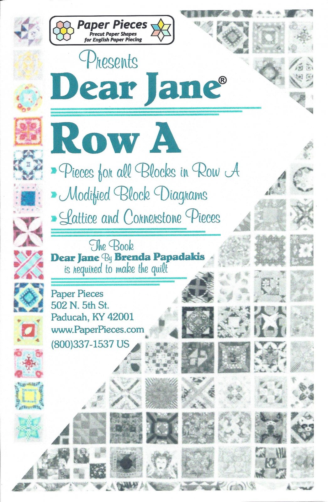 Dear Jane (Row A) EPP Paper Pieces Kit