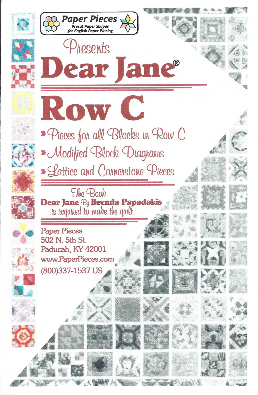 Dear Jane (Row C) EPP Paper Pieces Kit