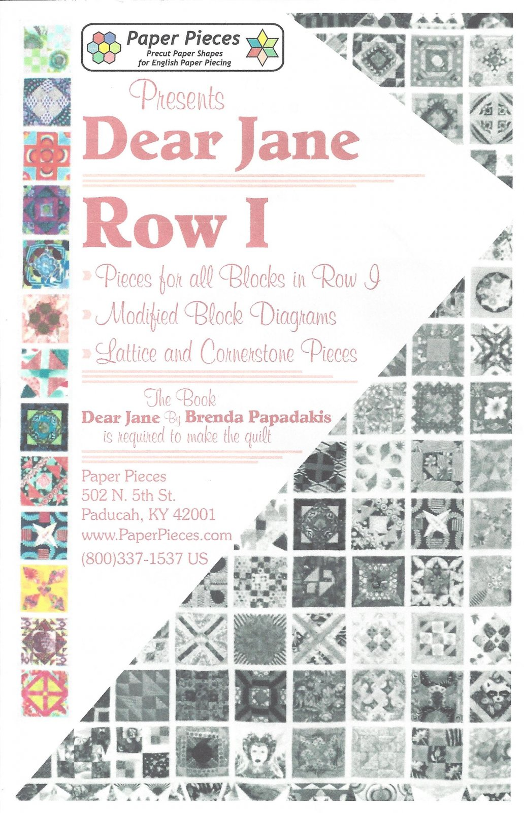 Dear Jane (Row I) EPP Paper Pieces Kit