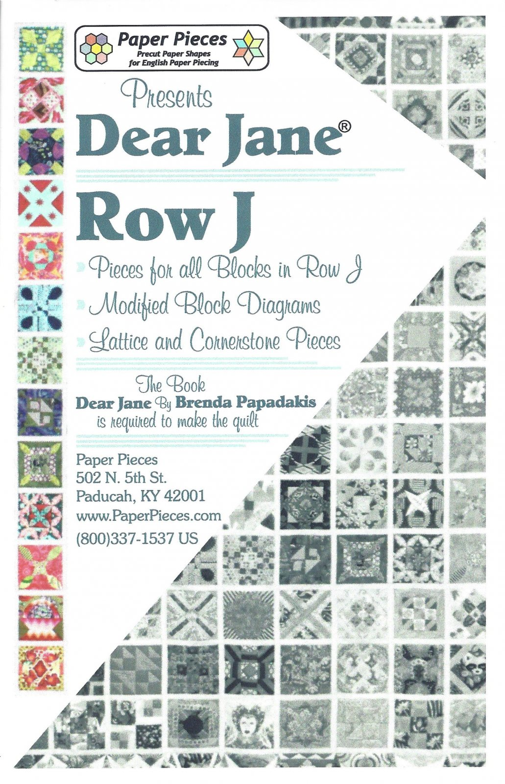 Dear Jane (Row J) EPP Paper Pieces Kit