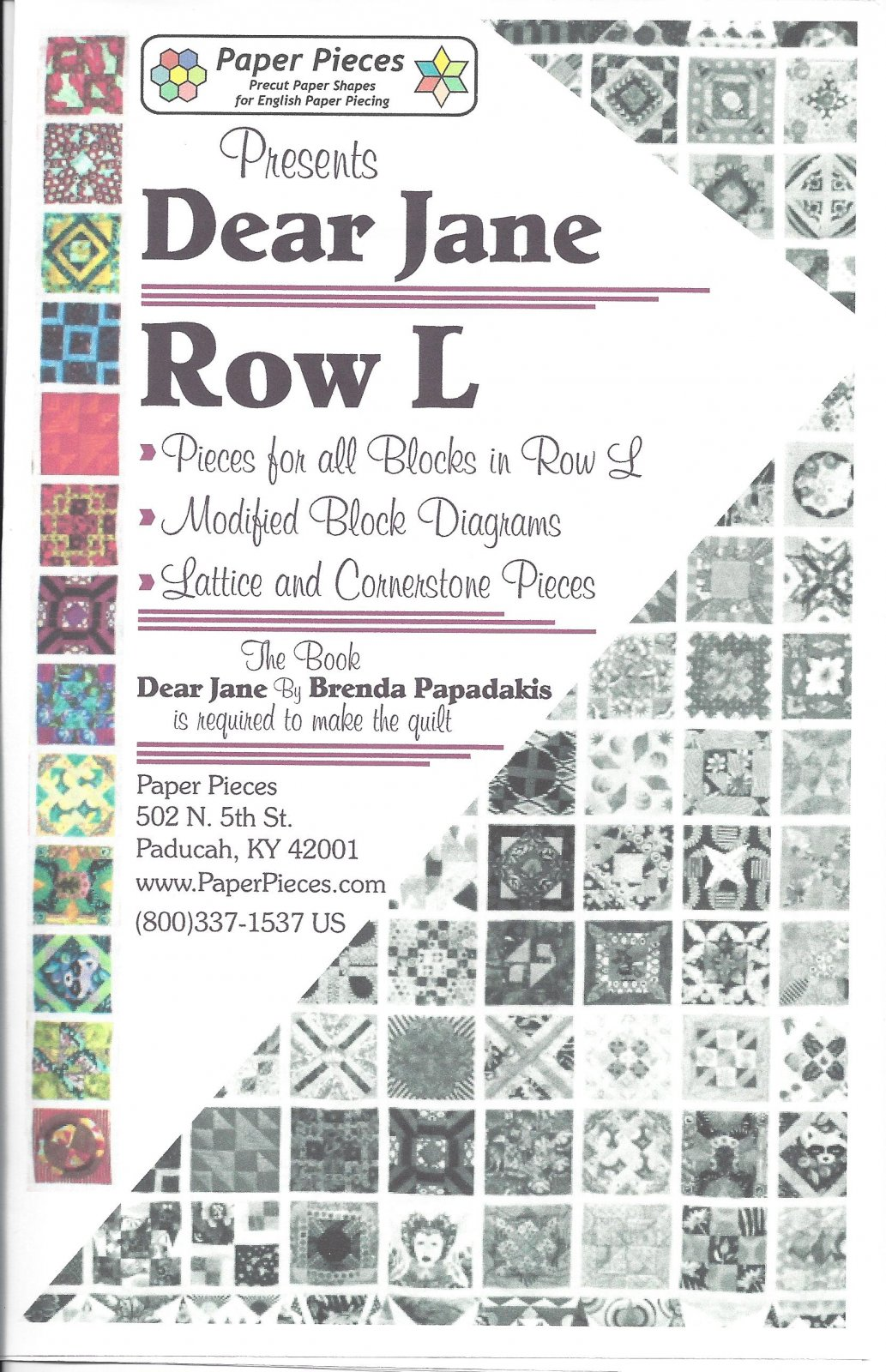 Dear Jane (Row L) EPP Paper Pieces Kit