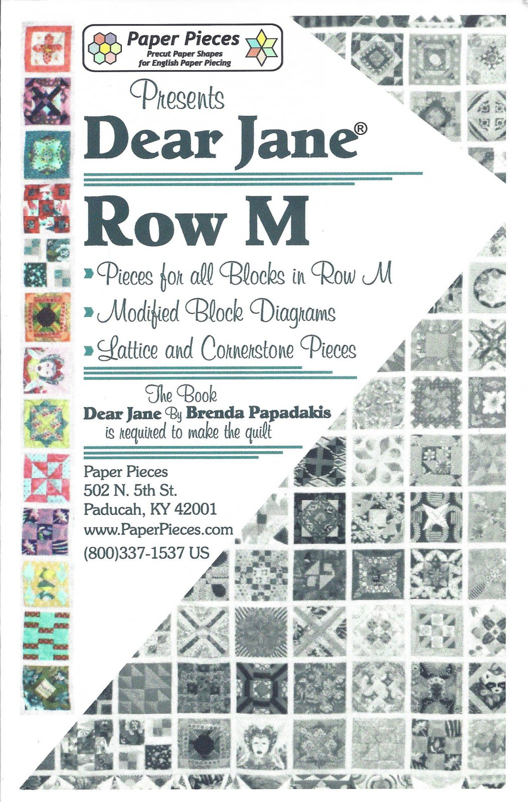 Dear Jane (Row M) EPP Paper Pieces Kit