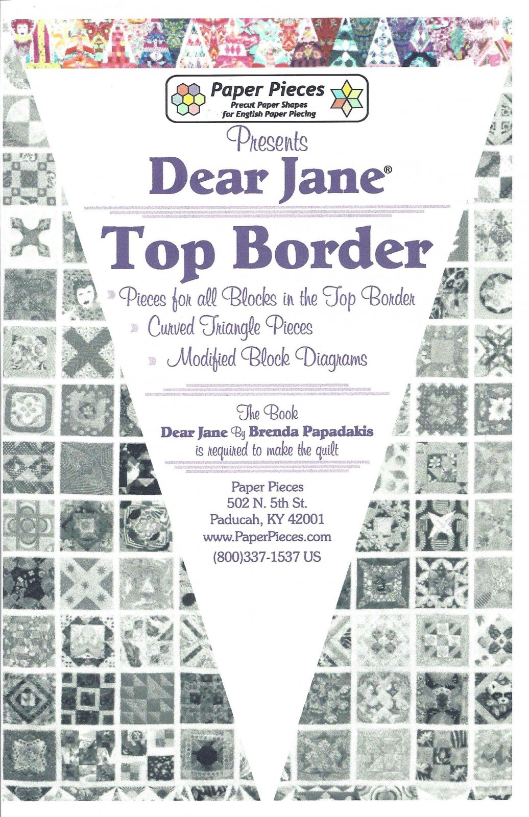 Dear Jane (Top Border) EPP Paper Pieces Kit