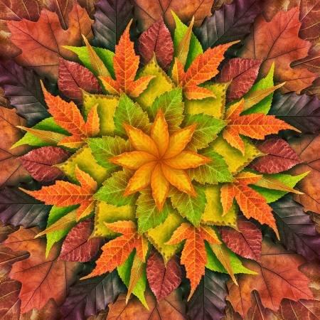 Autumn Dream Big Leaf Hoffman Digital Panel 44 x 44
