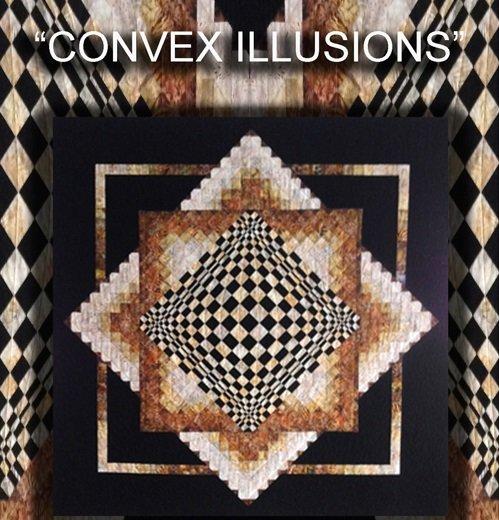 Convex Illusions by KwiltArt Designs