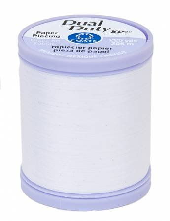 White Paper Piecing Thread - Dual Duty XP Coats & Clark S942-0100