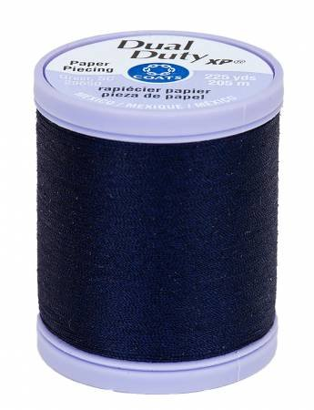 Navy Paper Piecing Thread - Dual Duty XP Coats & Clark S942-4900