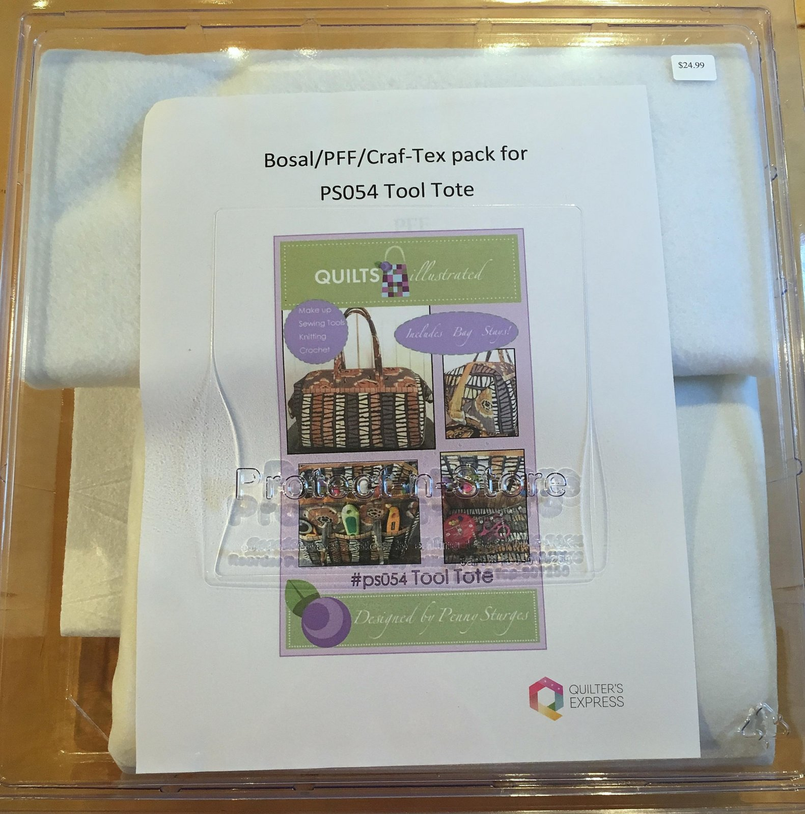 Bosal/PFF/Craf-Tex Kit for Tool Tote PS054 by Quilts Illustrated