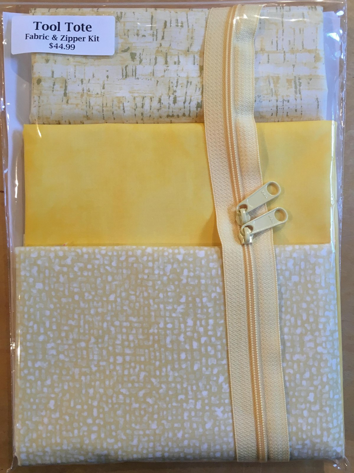 Tool Tote Yellow Trio - Fabric & Zipper Kit ONLY