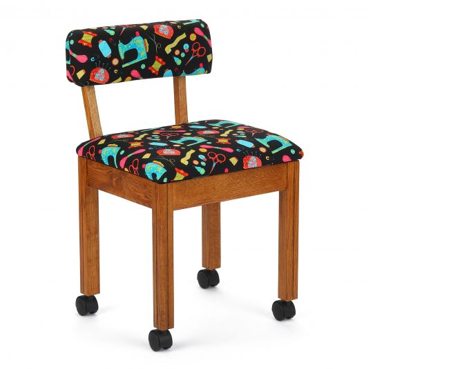 Arrow Black sewing motif chair