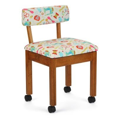 Arrow bright white sewing motif chair