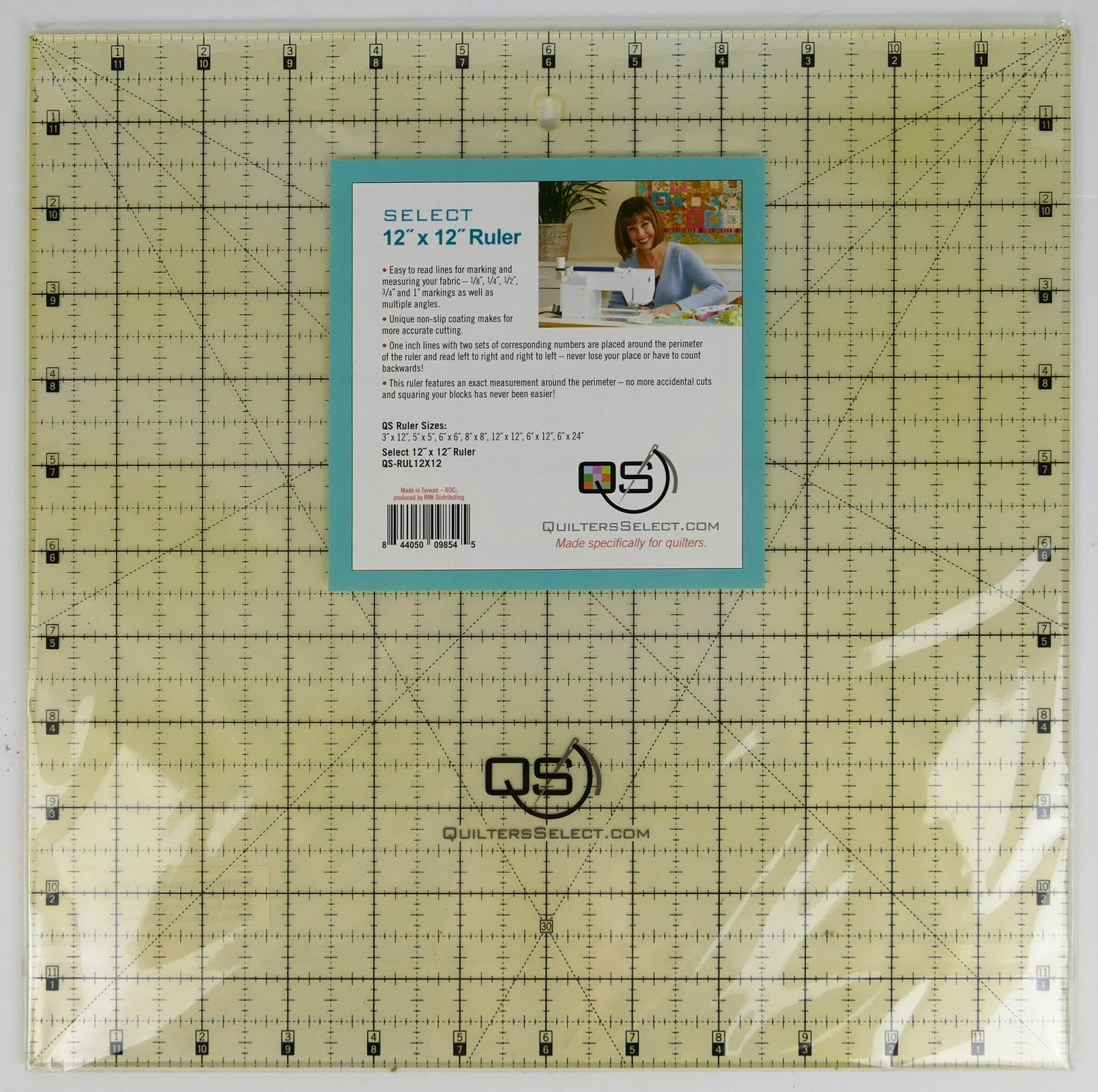 Quilters Select 12 x 12 non-slip Ruler