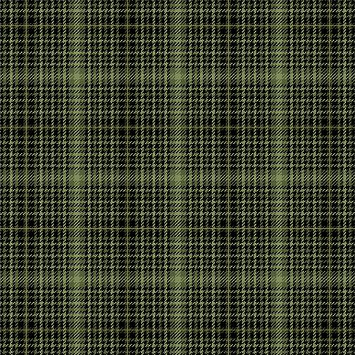 Fabric-Benartex Autumn Elegance Green Tonal Plaid