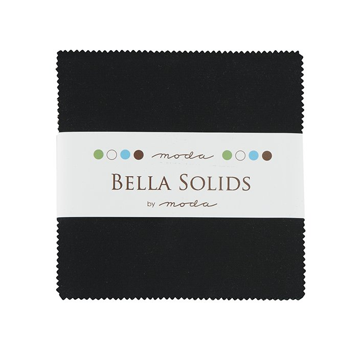 Charm Pack-Moda Bella Solids Black